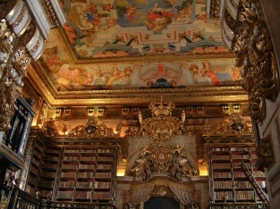 Biblioteca-Joanina-ceiling